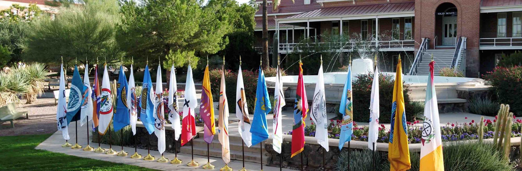 University of Arizona All 22 Federally Recognized Arizona Tribes Flag Hosting