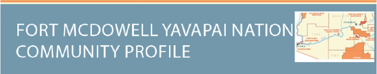 Fort McDowell Yavapai nation profile with their territories highlighted in Pima and Maricopa county