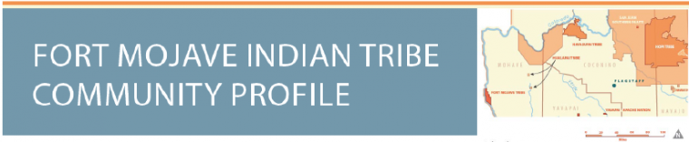 Fort Mojave Indian tribe territory in north east Arizona highlighted